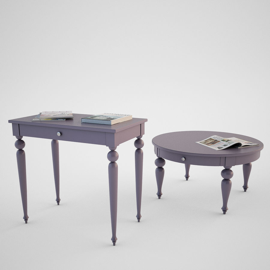 Ikea Isala Table Royalty Free 3d Model Preview No 1