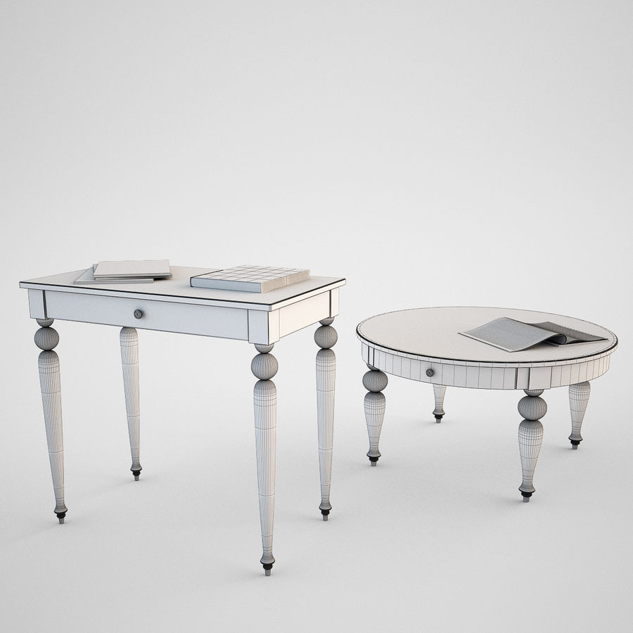 Ikea Isala Table Royalty Free 3d Model Preview No 6