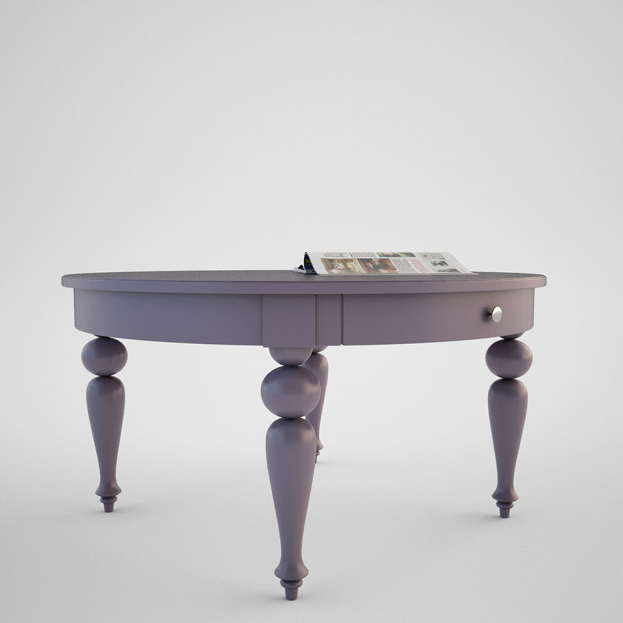 Ikea Isala Table Royalty Free 3d Model Preview No 3