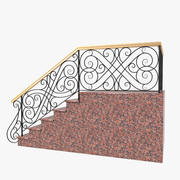 Wrought Iron Stair Railing 3 3d model