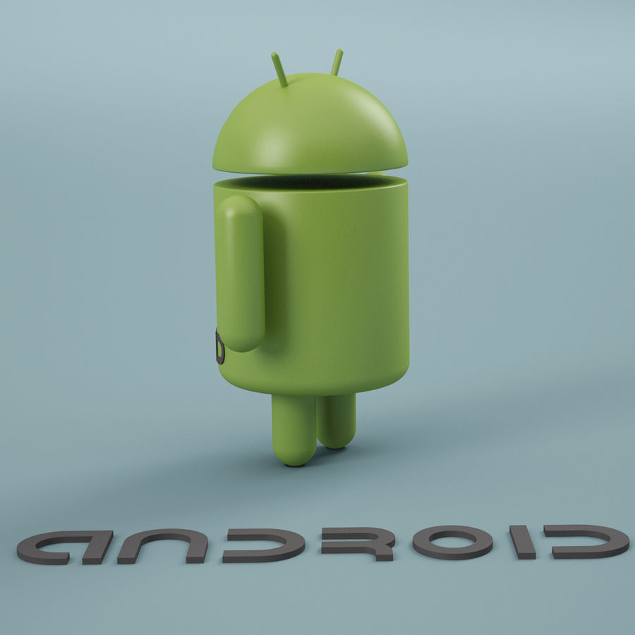 Android Logo royalty-free 3d model - Preview no. 3
