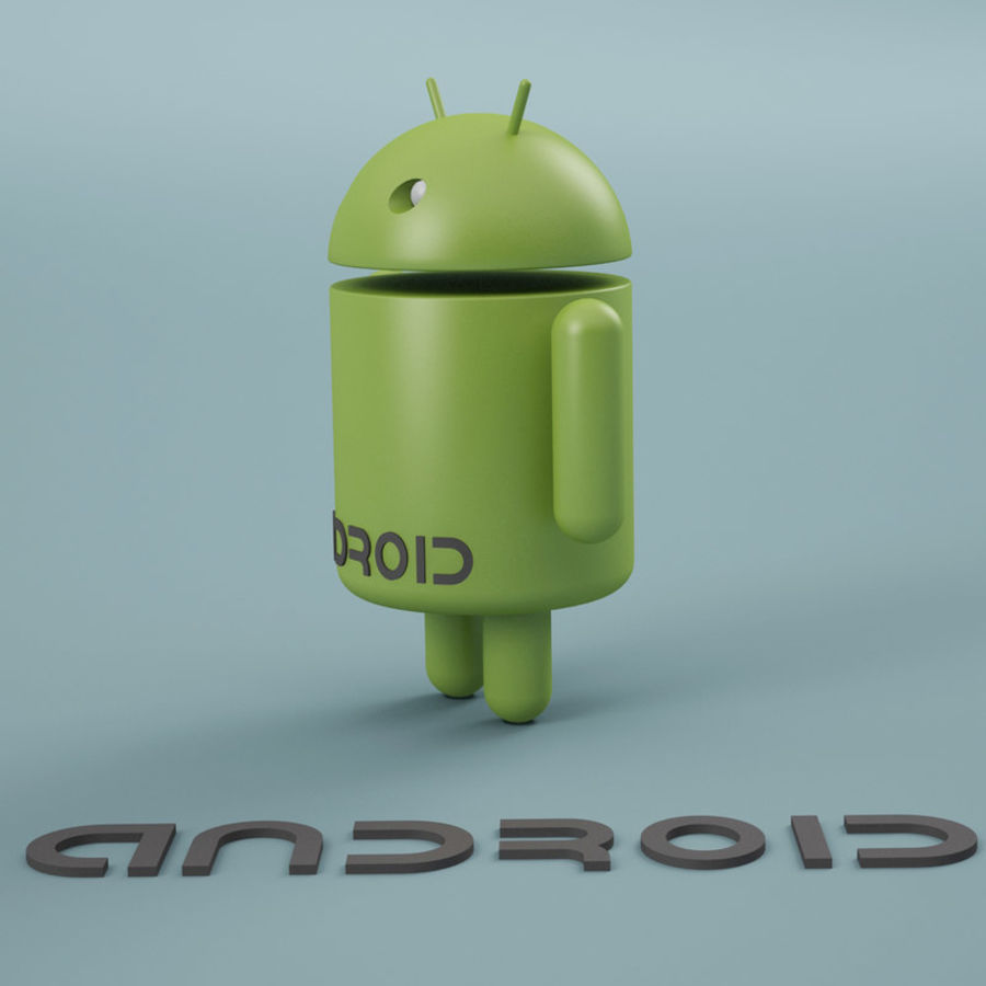 Android Logo royalty-free 3d model - Preview no. 2