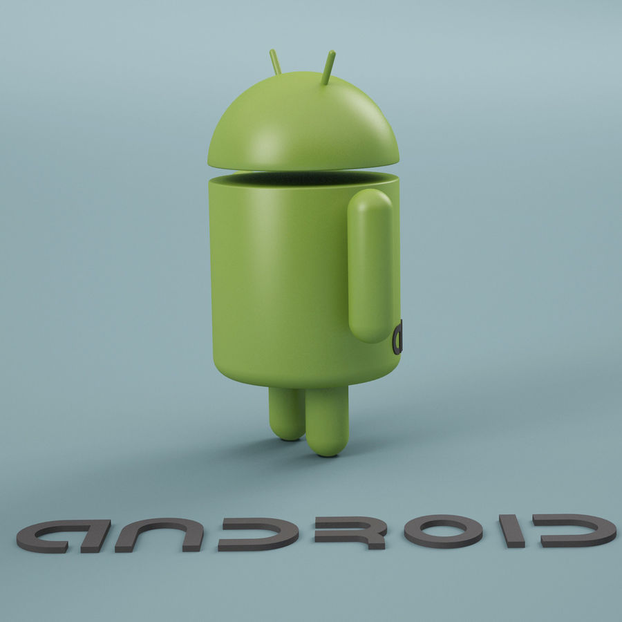 Android Logo royalty-free 3d model - Preview no. 5