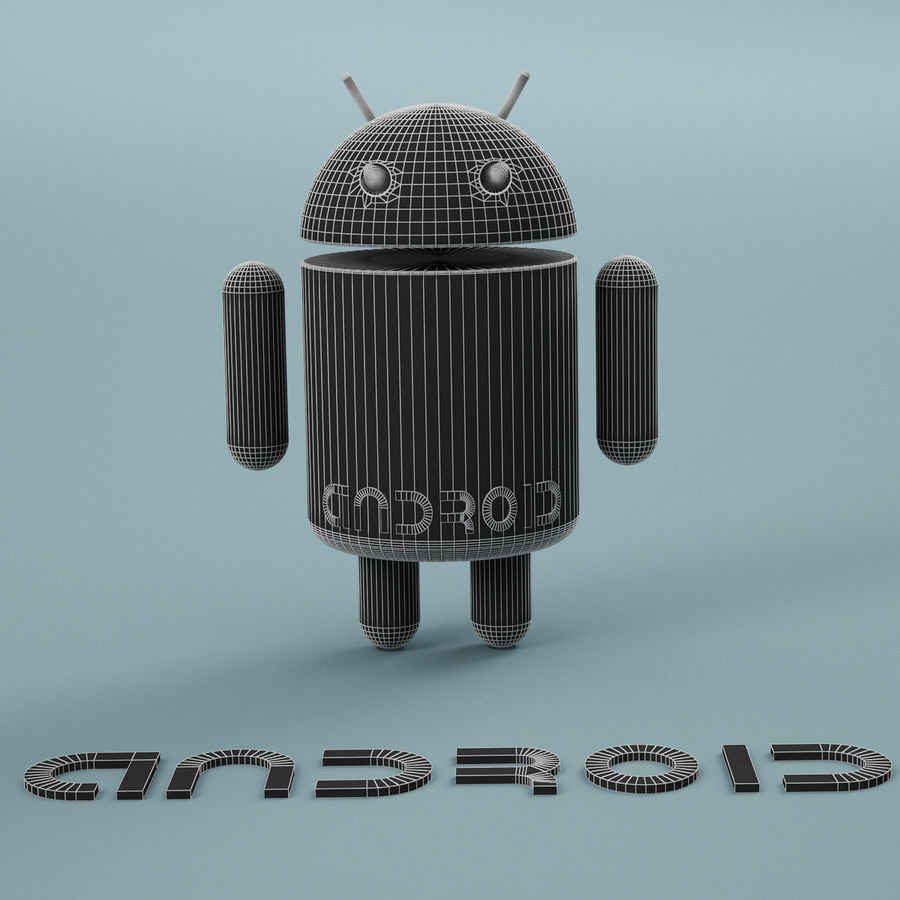 Android Logo royalty-free 3d model - Preview no. 11
