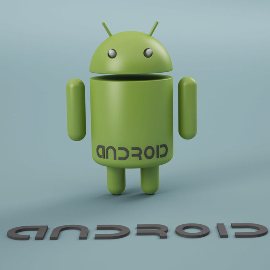 Android Logo royalty-free 3d model - Preview no. 1