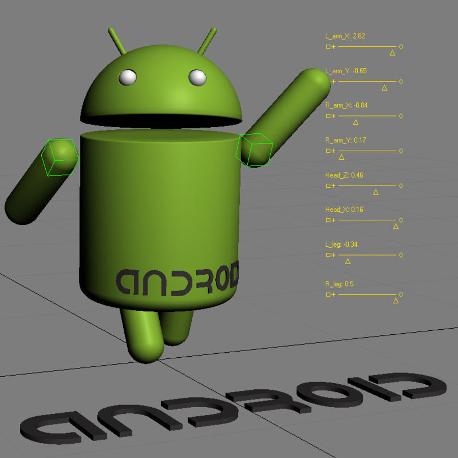 Android Logo royalty-free 3d model - Preview no. 10