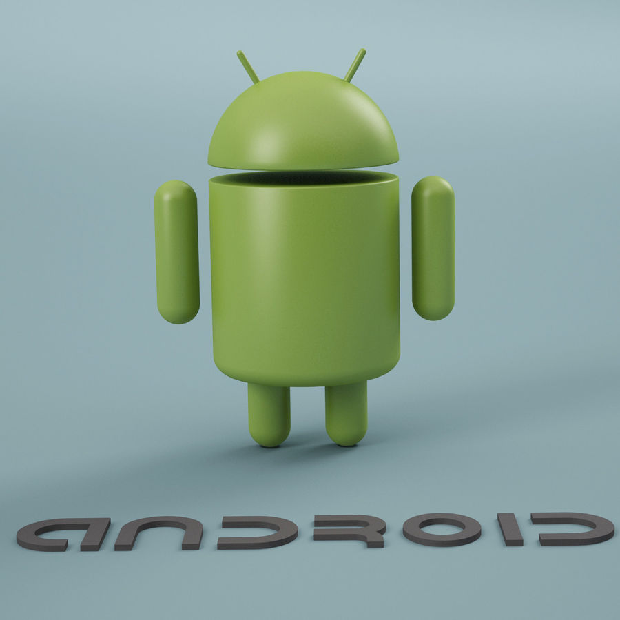 Android Logo royalty-free 3d model - Preview no. 4