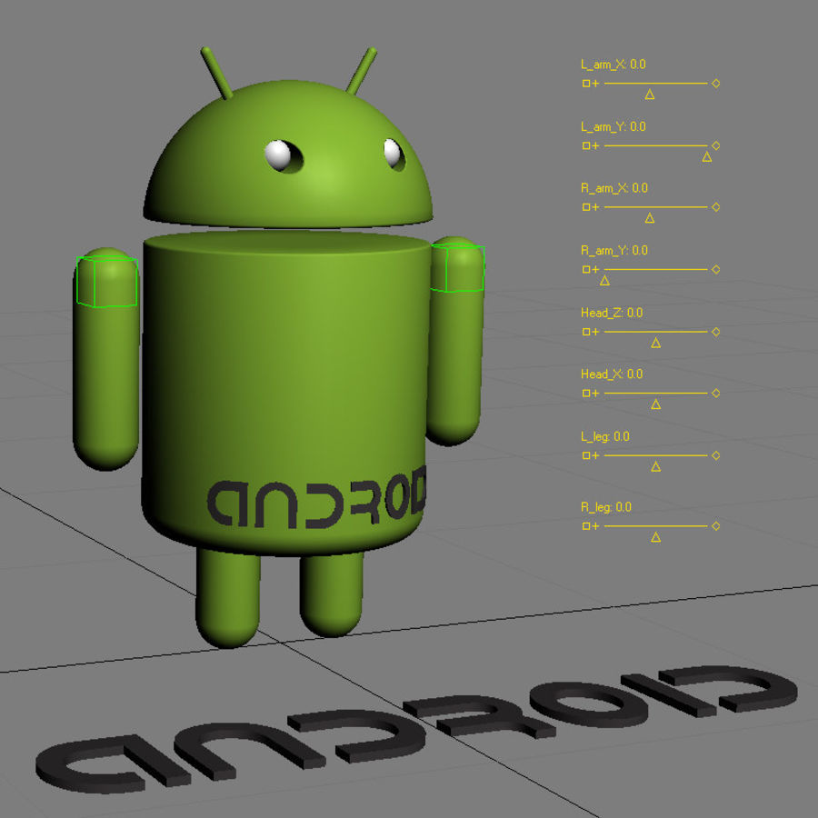 Android Logo royalty-free 3d model - Preview no. 9