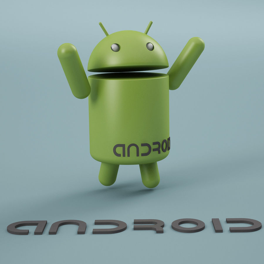 Android Logo royalty-free 3d model - Preview no. 7