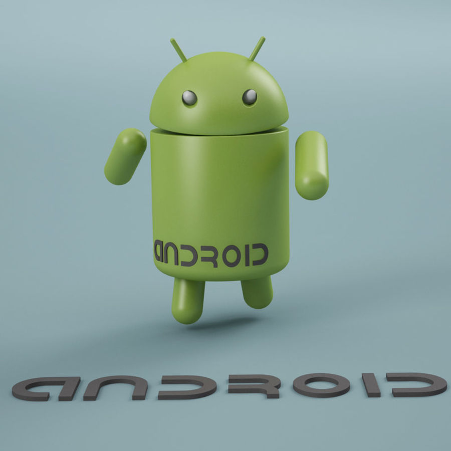 Android Logo royalty-free 3d model - Preview no. 8