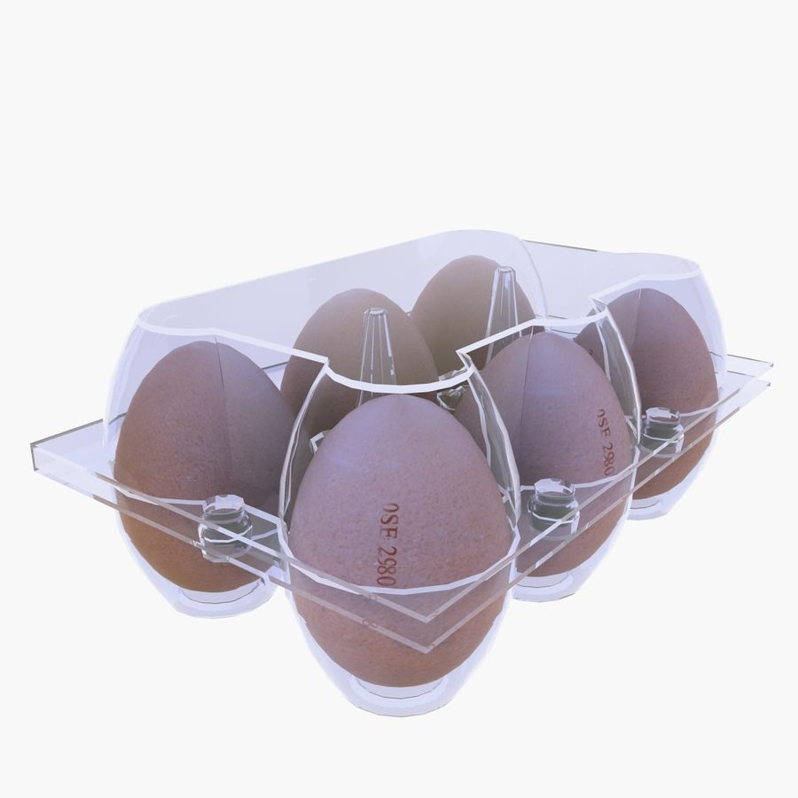 Egg Box royalty-free 3d model - Preview no. 7