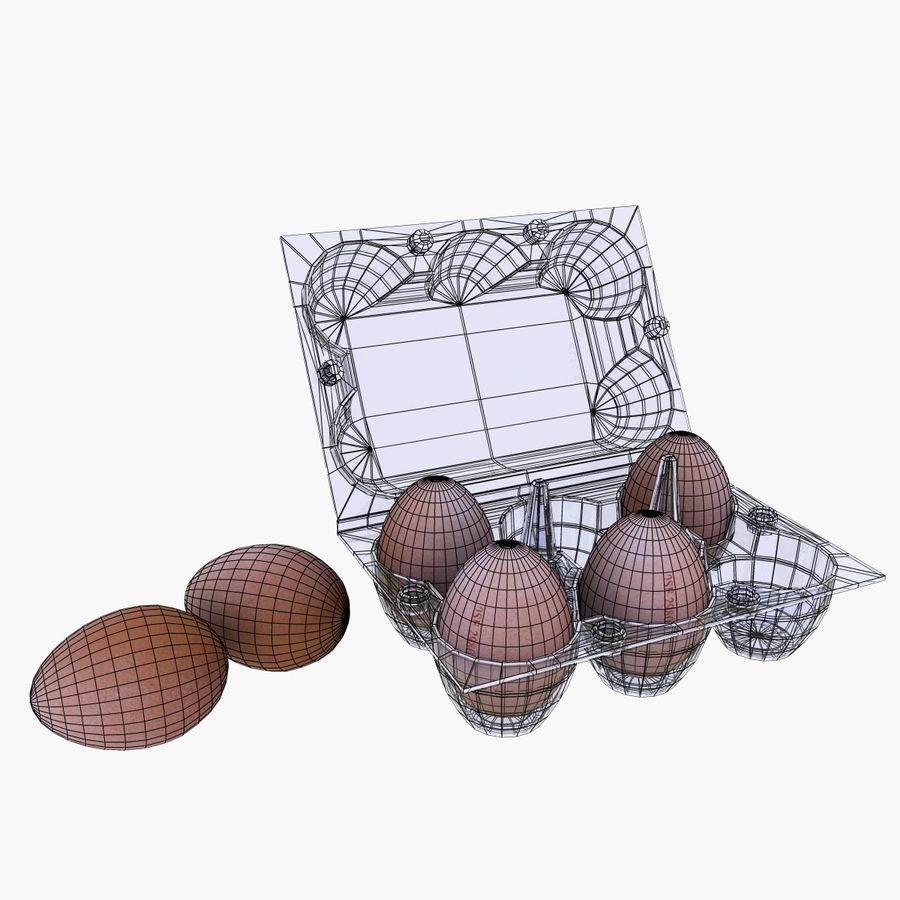Egg Box royalty-free 3d model - Preview no. 11
