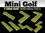 Mini Golf Course 7 Model Collection 3d model