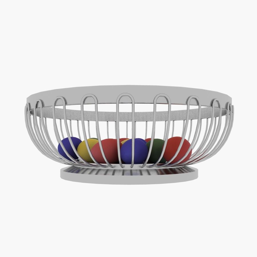 Egg Basket royalty-free 3d model - Preview no. 3