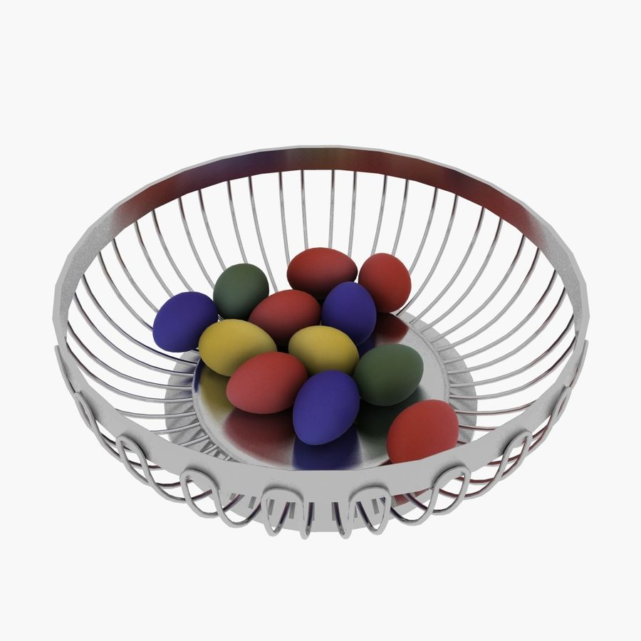 Egg Basket royalty-free 3d model - Preview no. 1
