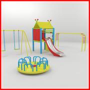 Детская игровая площадка 3d model
