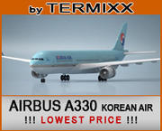 エアバスA330 KOREA AIR 3d model