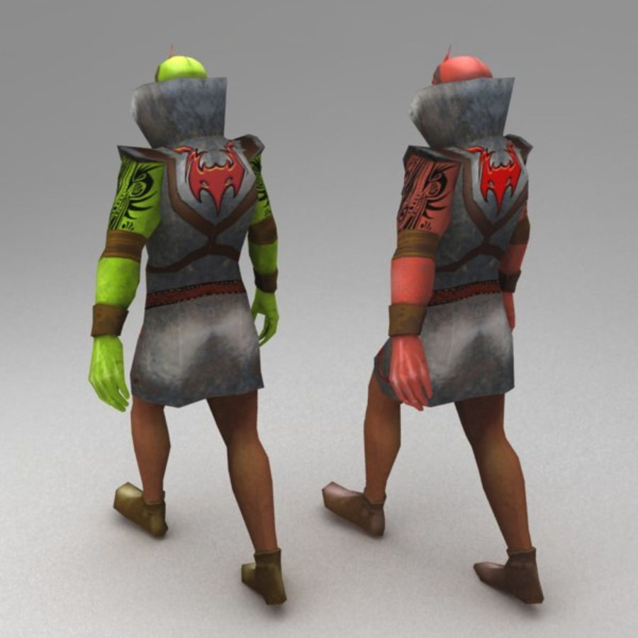 Orc mage royalty-free 3d model - Preview no. 3