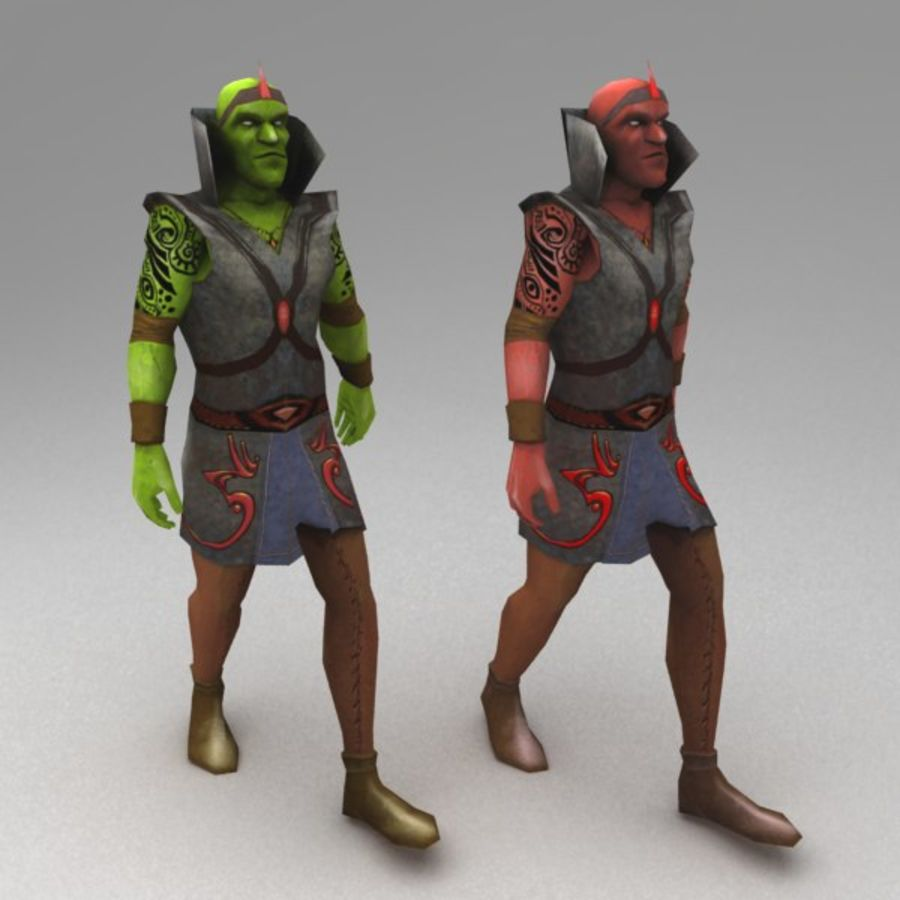 Orc mage royalty-free 3d model - Preview no. 2