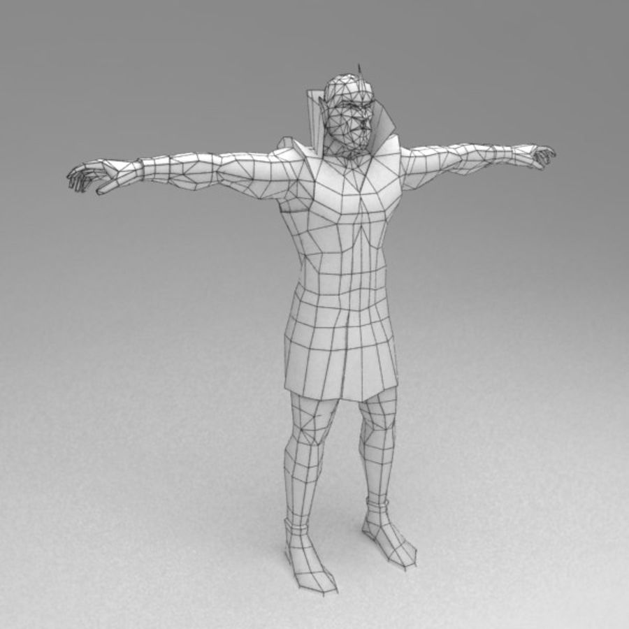 Orc mage royalty-free 3d model - Preview no. 6