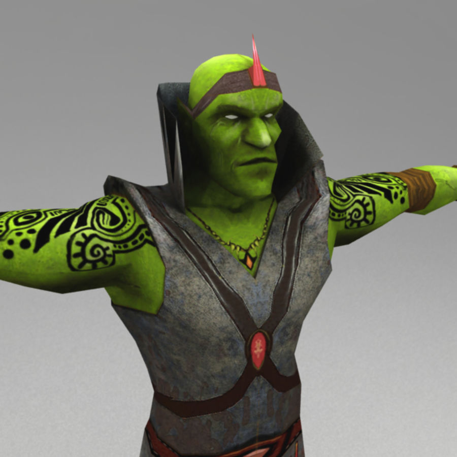 Orc mage royalty-free 3d model - Preview no. 5