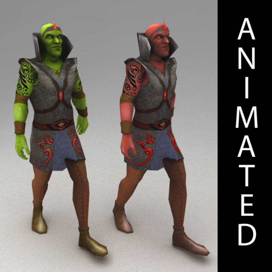 Orc mage royalty-free 3d model - Preview no. 1