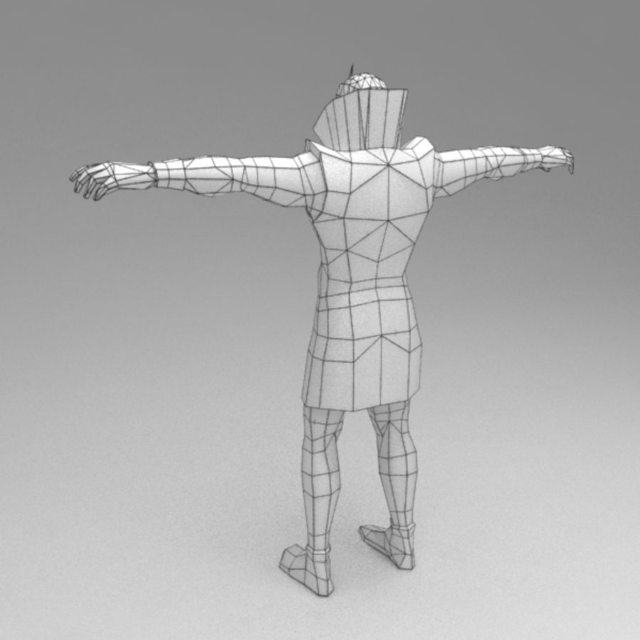 Orc mage royalty-free 3d model - Preview no. 7