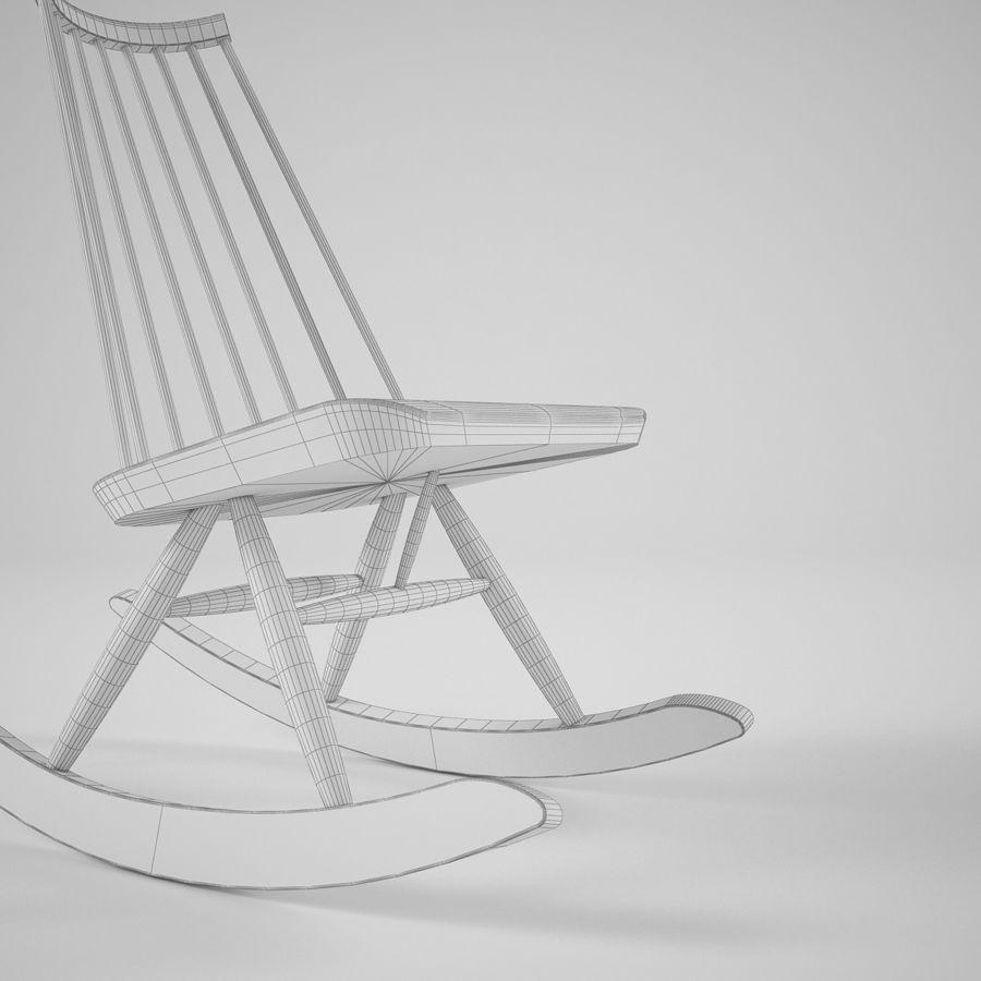 Artek Mademoiselle Rocking Chair 3d Model 20 Fbx Obj