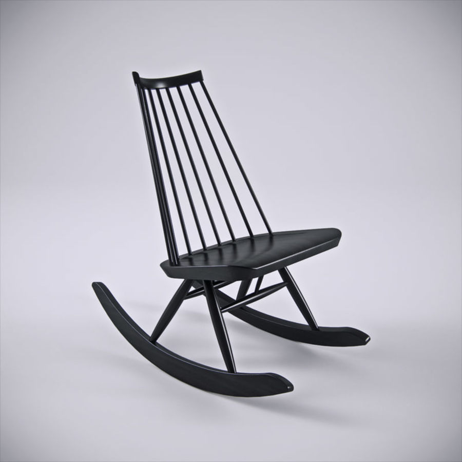 Artek Mademoiselle Rocking Chair 3d Model 20 Fbx Obj