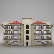 Tropical Latin Mexican Beach Tower Hotel condo Hacienda 3d model