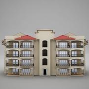 トロピカルラテンメキシコビーチタワーホテルコンドミニアムハシエンダ 3d model