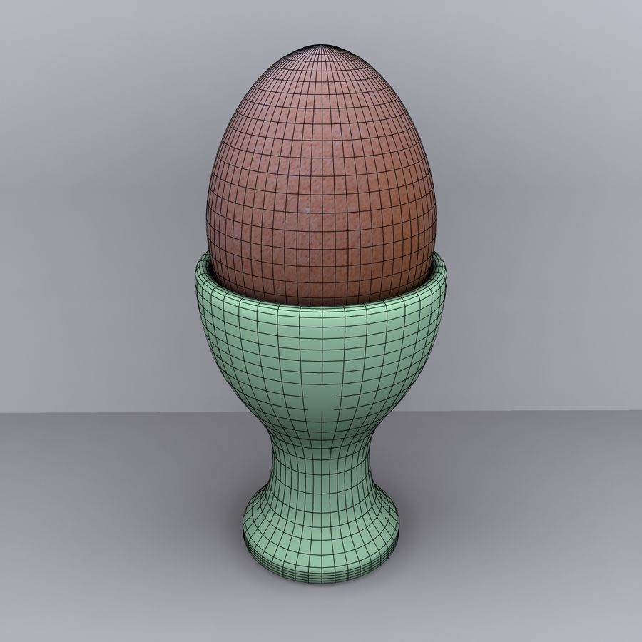 Egg Cup royalty-free 3d model - Preview no. 9