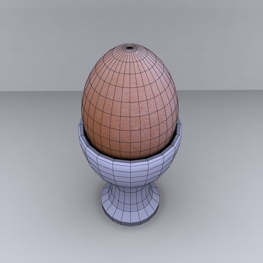 Egg Cup royalty-free 3d model - Preview no. 13