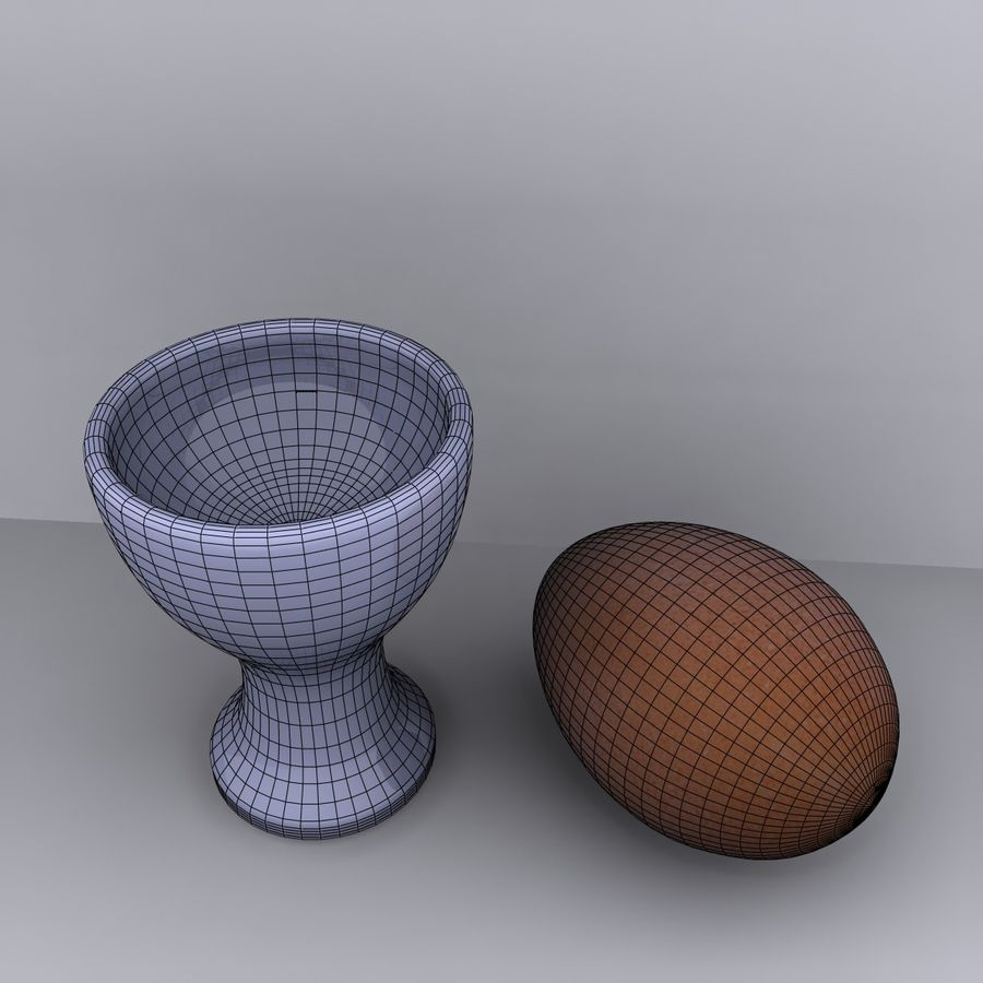 Egg Cup royalty-free 3d model - Preview no. 10