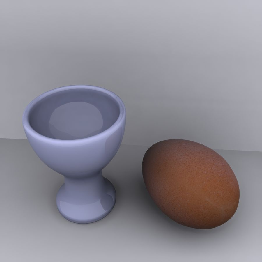 Egg Cup royalty-free 3d model - Preview no. 6