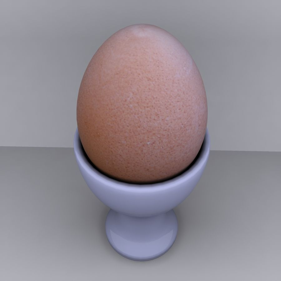 Egg Cup royalty-free 3d model - Preview no. 5
