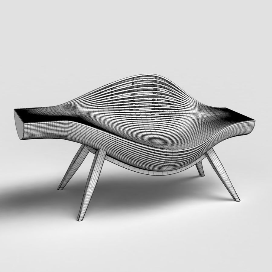 Steam 11 chair royalty-free 3d model - Preview no. 2