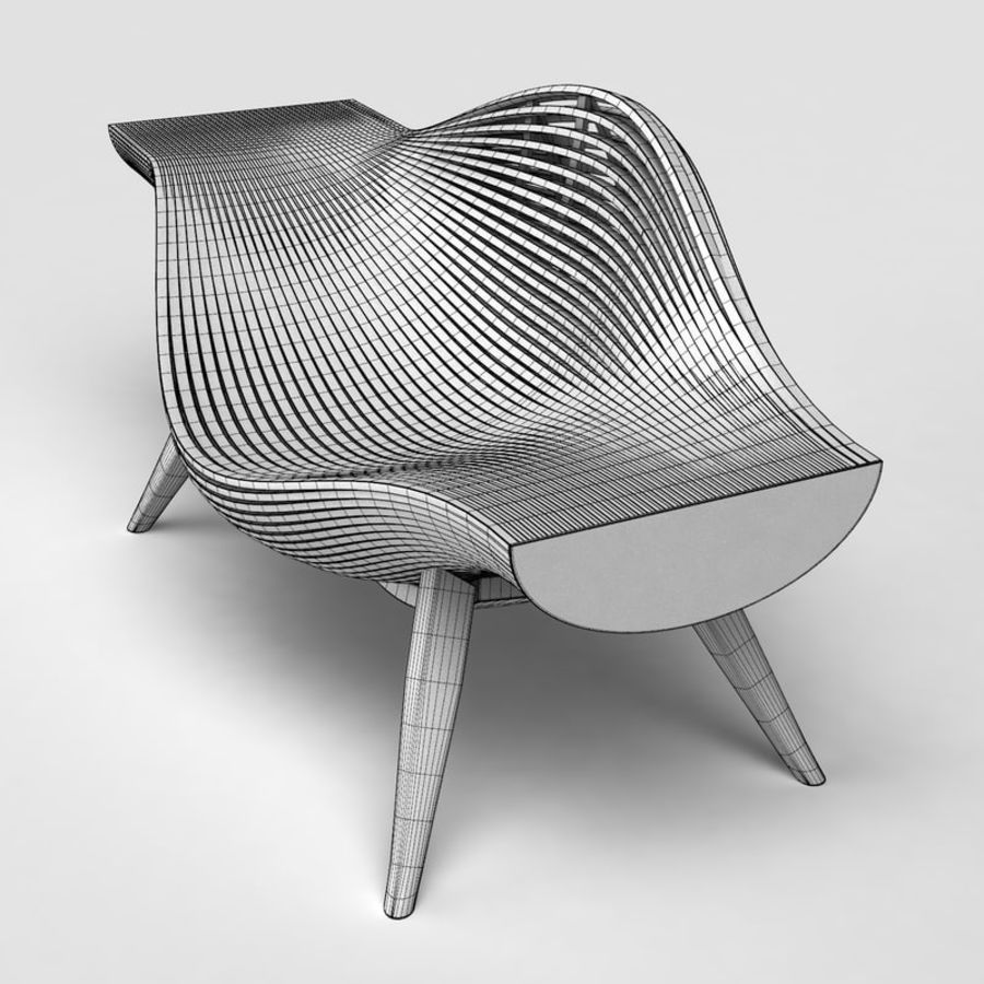 Steam 11 chair royalty-free 3d model - Preview no. 6