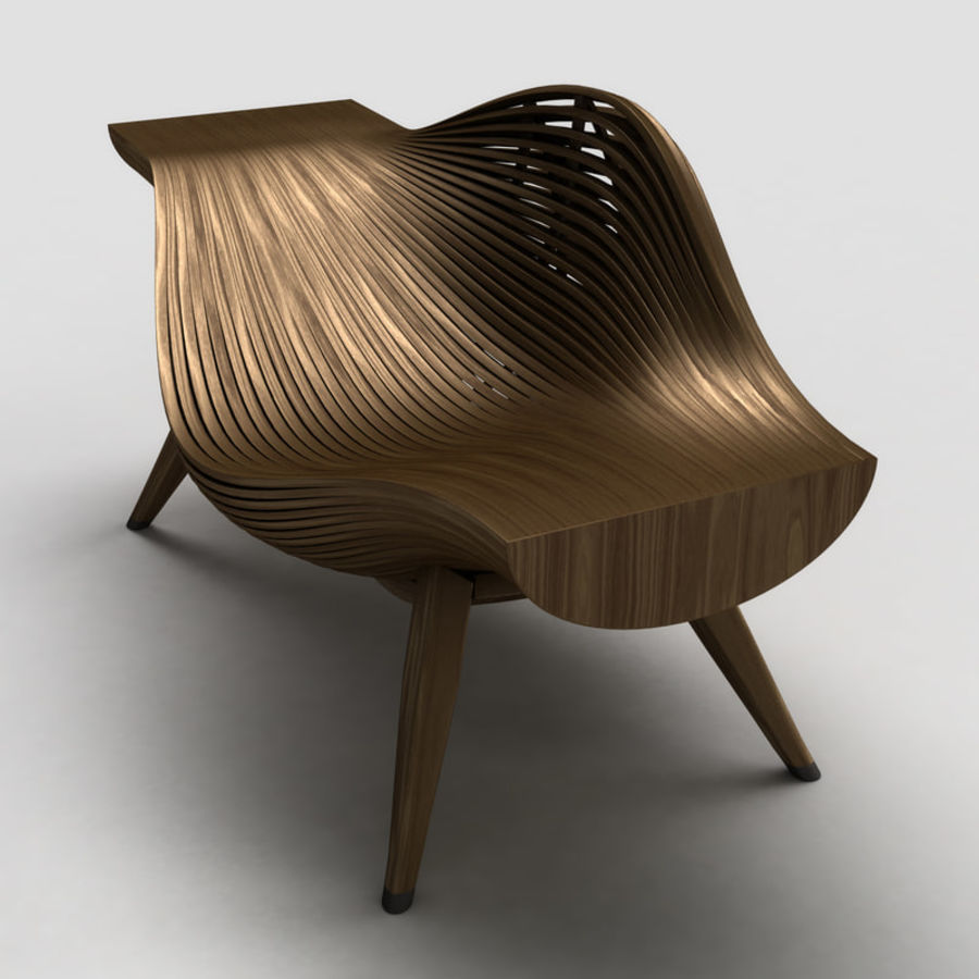 Steam 11 chair royalty-free 3d model - Preview no. 5