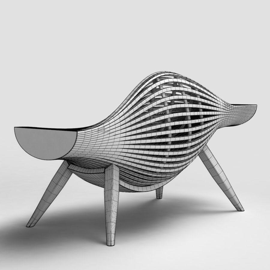 Steam 11 chair royalty-free 3d model - Preview no. 4