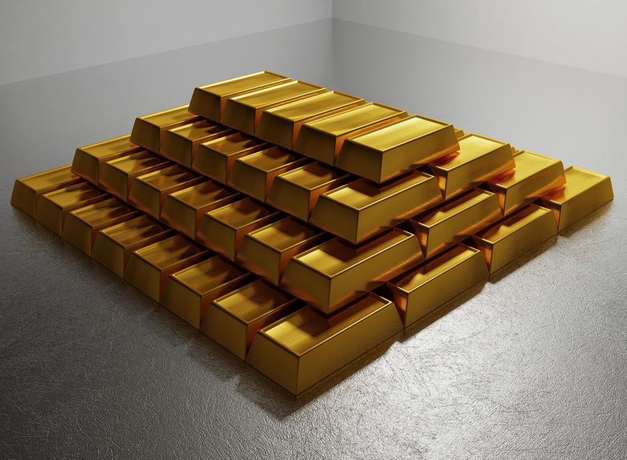 GOLD royalty-free 3d model - Preview no. 4