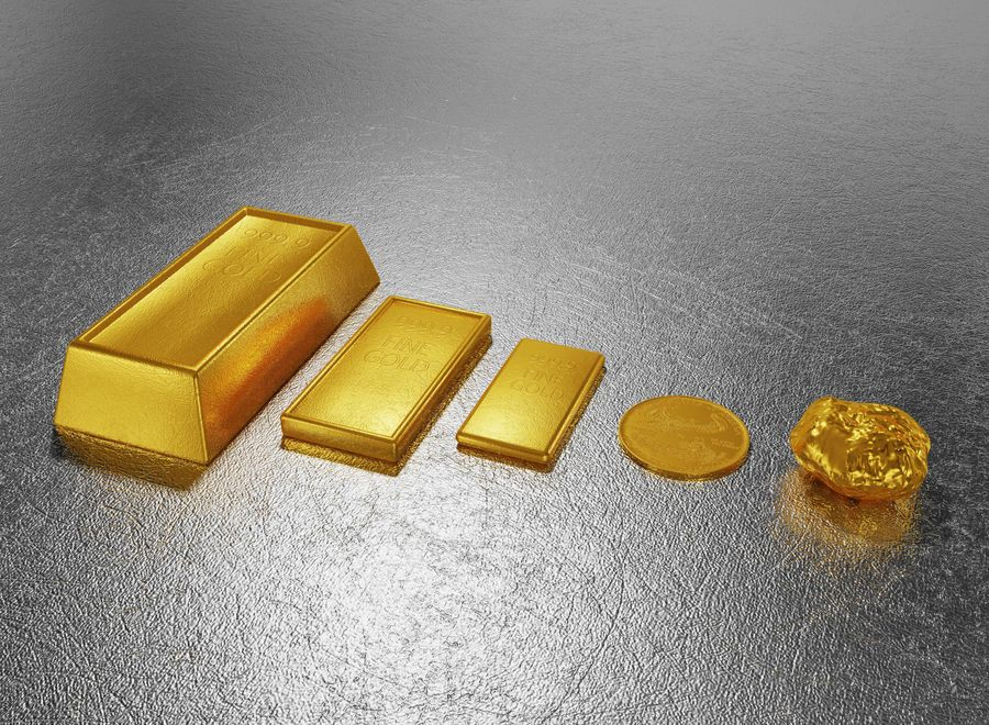 GOLD royalty-free 3d model - Preview no. 1