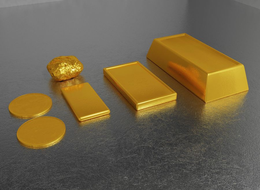 GOLD royalty-free 3d model - Preview no. 7