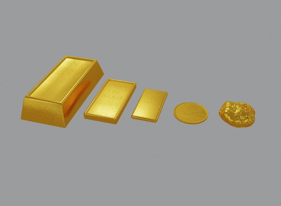 GOLD royalty-free 3d model - Preview no. 6
