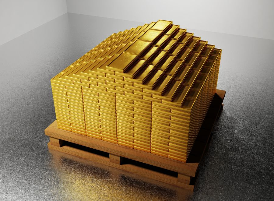 GOLD royalty-free 3d model - Preview no. 5