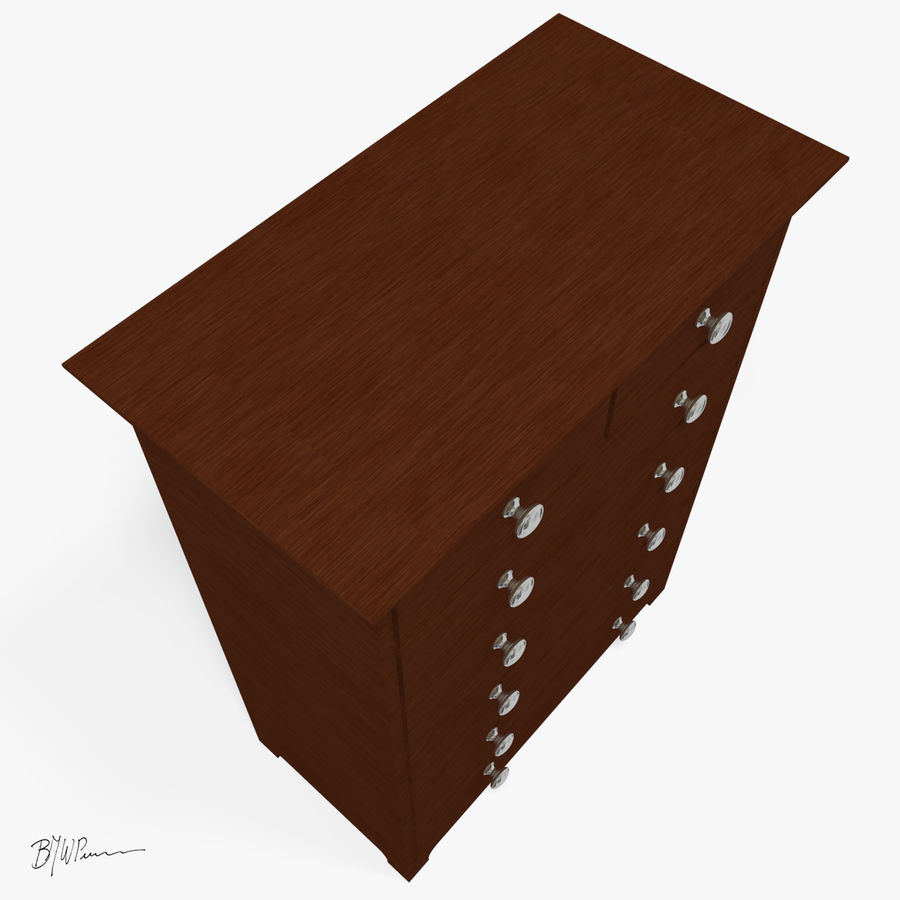 Dresser_2012_01 royalty-free 3d model - Preview no. 3