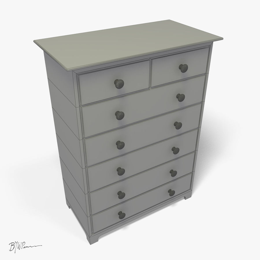Dresser_2012_01 royalty-free 3d model - Preview no. 4