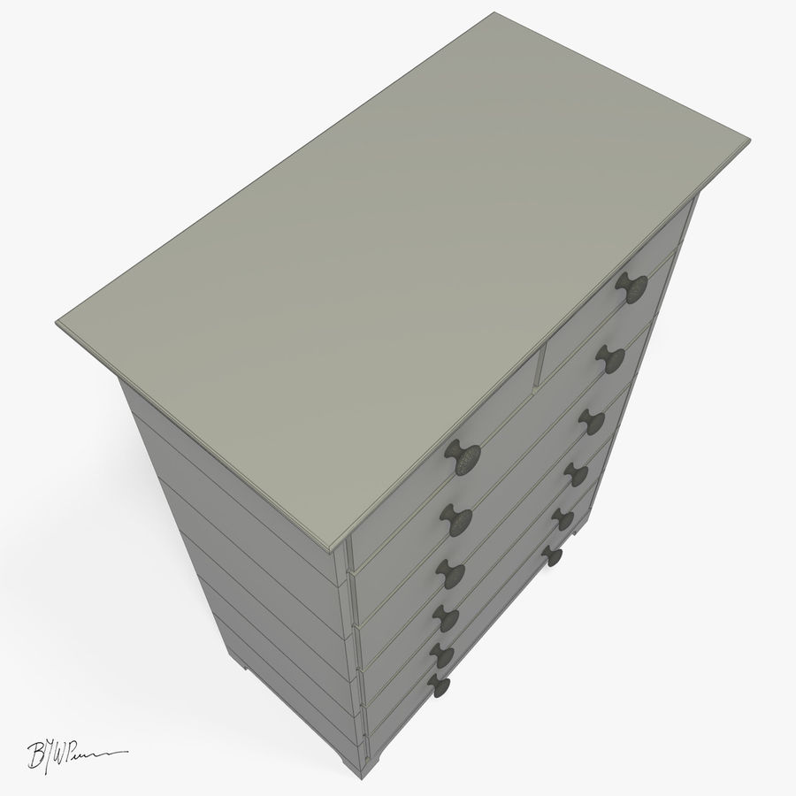 Dresser_2012_01 royalty-free 3d model - Preview no. 6