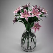 Flower - Lily Pink 3d model