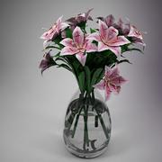 Flower - Lily Pink 3d model